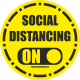 Social distancing sticker - ON